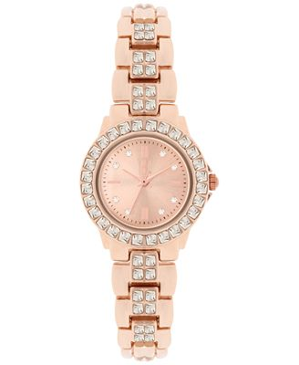 INC International Concepts Women's Crystal Accent Bracelet Watch 26mm, Only at Macy's