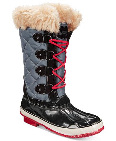 Khombu Women S Melanie Lace Up Faux Fur Boots Boots