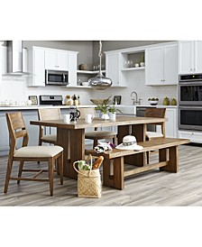 CLOSEOUT! Athena 6-Pc. Dining Set (Dining Trestle Table, 4 Side Chairs & Bench)