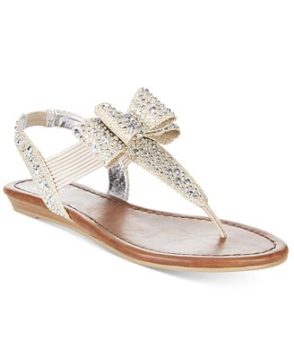Material Girl Shayleen Flat Thong Sandals, Only at Macy's