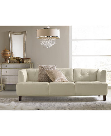 Alessia Leather Sofa Living Room Furniture Collection - Furniture ...