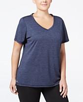 36bf283352a Ideology Plus Size Rapidry V-Neck Performance T-Shirt