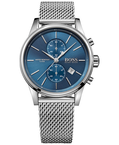 BOSS Hugo Boss Men's Chronograph Jet Stainless Steel Mesh Bracelet Watch 41mm 1513441