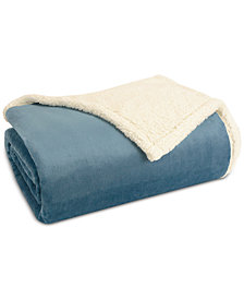 Madison Park Microlight Plush to Berber King Blanket