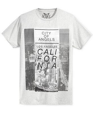 Univibe Men's California Los Angeles City View T-Shirt