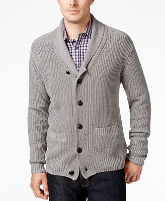 Tricots St. Raphael Men's Shawl-Collar Cardigan
