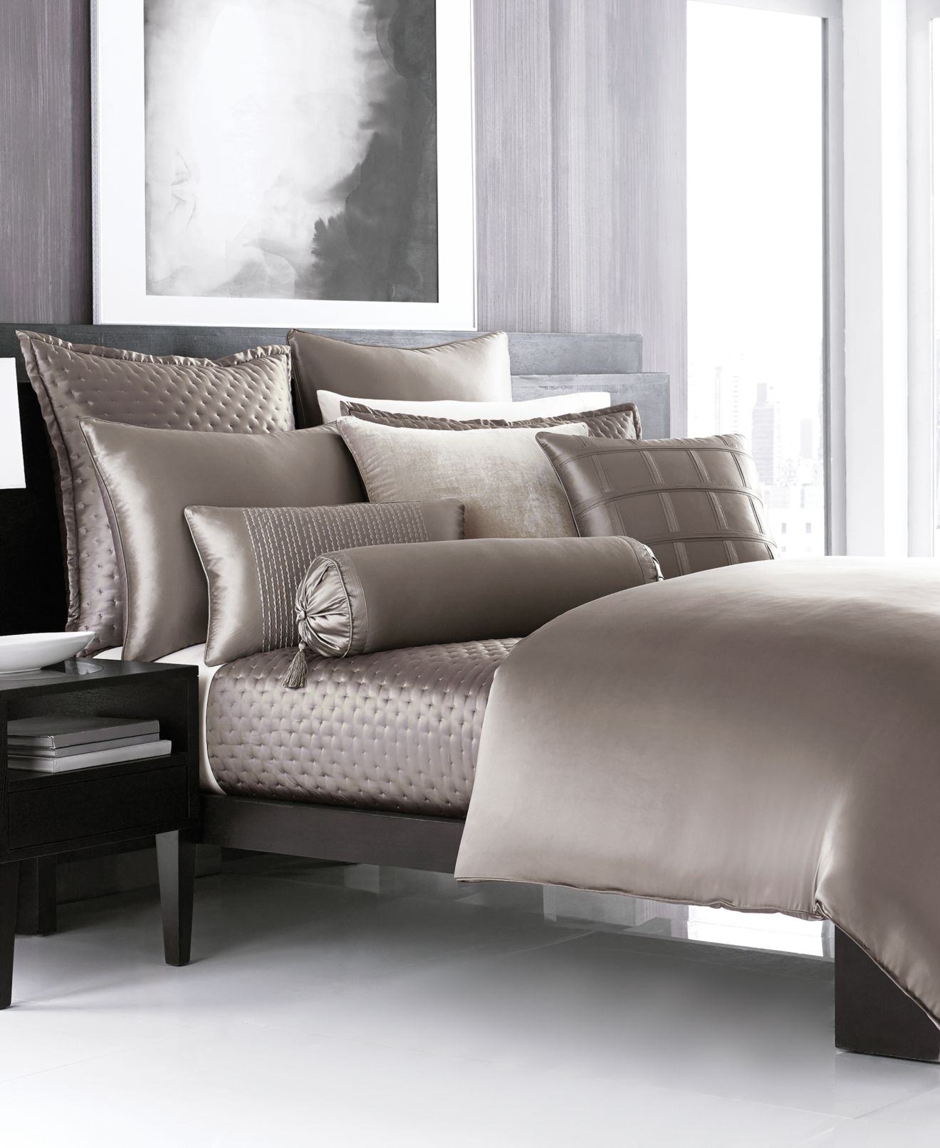 closeout! hotel collection finest silken bedding collection