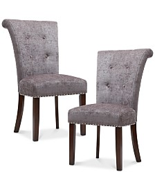 Daniel Set of 2 Dining Chairs, Quick Ship