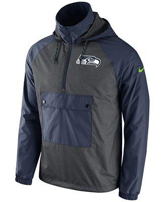 Nike Men's Seattle Seahawks Anorak Pullover Jacket - Sports Fan ...