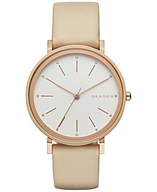 Skagen Women's Hald Tan Leather Strap Watch 34mm SKW2489