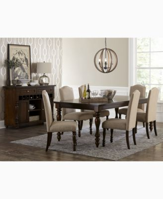 Kelso 7 Pc. Dining Set (Dining Table U0026 6 Side Chairs)   Furniture   Macyu0027s