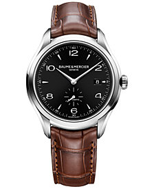 Baume & Mercier Men's Swiss Automatic Clifton Brown Alligator Leather Strap Watch 41mm MOA10053