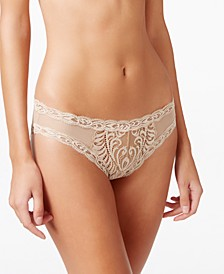 Feathers Low-Rise Sheer Hipster Underwear 753023