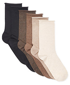 Lauren Ralph Lauren Women's 6-Pk. Roll-Top Trouser Socks