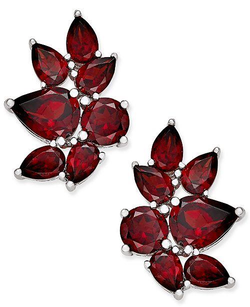 Macy's Rhodolite Garnet Drop Earrings (10 ct. t.w.) in Sterling Silver