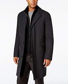 Cole Haan Men's Twill Bibby Overcoat