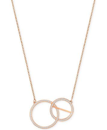 Swarovski rose gold tone pav double circle pendant necklace image 1 of swarovski rose gold tone pav double circle pendant necklace aloadofball Image collections