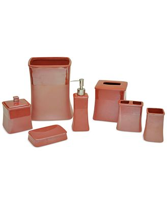 jessica simpson kensley spice coral bath accessories, created for