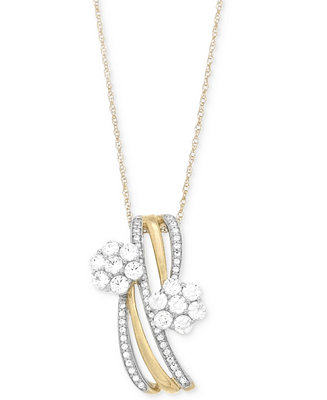 Wrapped in Love Diamond Cluster Pendant Necklace (3/4 ct