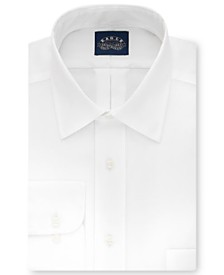 Eagle Men's Big & Tall Classic-Fit Stretch Collar Non-Iron White Solid Dress Shirt