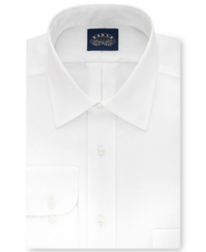 Eagle - Men's Big & Tall Classic-Fit Non-Iron White Solid Dress Shirt