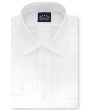 Men's Big & Tall Classic-Fit Stretch Collar Non-Iron White Solid Dress Shirt