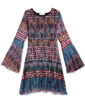 Jessica Simpson Girls Zion Shift Dress Dresses Kids