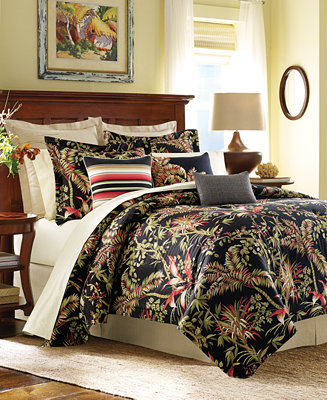 Tommy Bahama Home Jungle Drive Floral Print Comforter Sets
