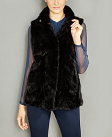 The Fur Vault Mink Fur Reversible Vest