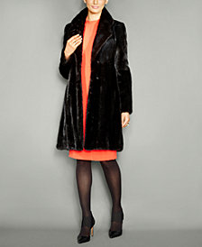 The Fur Vault Notched-Collar Mink Fur Coat