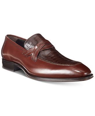Mezlan Men's Ryan Loafers With Ostrich Vamp, Only at Macy's