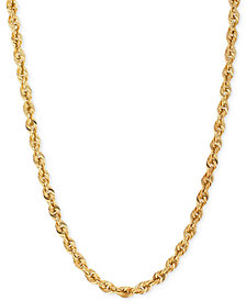 Rope Chain Necklace (4-1/2 mm) in 14k Gold