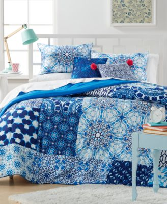 CLOSEOUT! Leah Patchwork 4-Pc. Twin/Twin XL Comforter Set