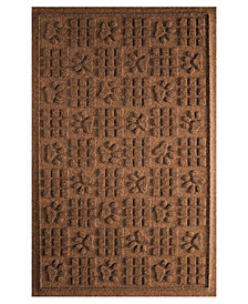 Bungalow Flooring Water Guard Dog Paw Squares Dark Brown 2'x3' Pet Mat