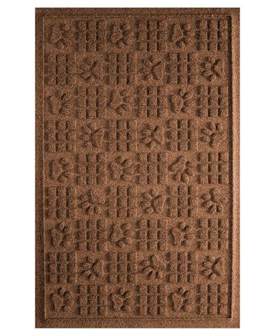 Bungalow Flooring Water Guard Dog Paw Squares Dark Brown 2'x3' Pet Mat