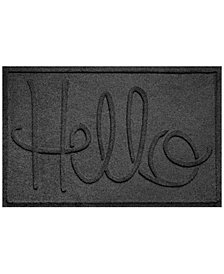Bungalow Flooring Water Guard Simple Hello 2'x3' Doormat