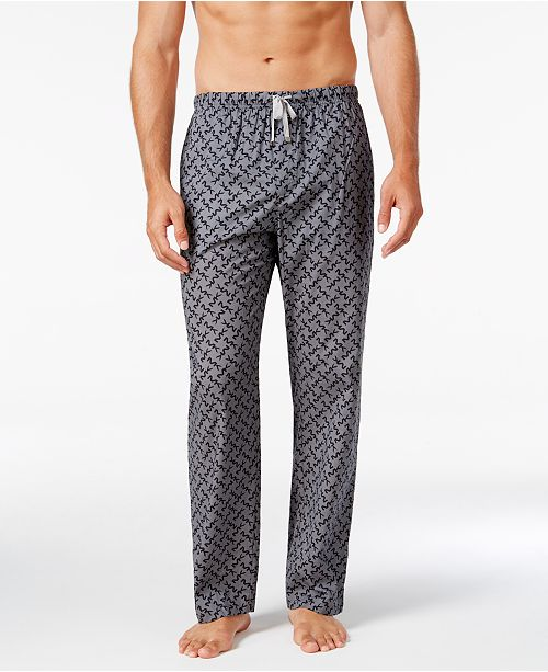 96f7b54ec64b ... Michael Kors Men s Windowpane Plaid Logo Woven Pajama Pants ...