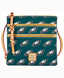 Dooney & Bourke Philadelphia Eagles Triple-Zip Crossbody Bag