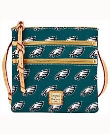 Dooney & Bourke Philadelphia Eagles Triple-Zip Crossbody Bag