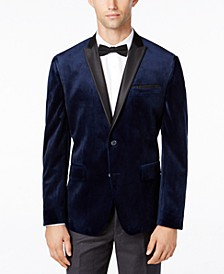 INC Men's Big & Tall Mason Slim-Fit Velvet Blazer, Created for Macy's