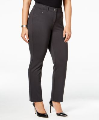 Style & Co Plus Size Slim-Leg Pants, Only at Macy's
