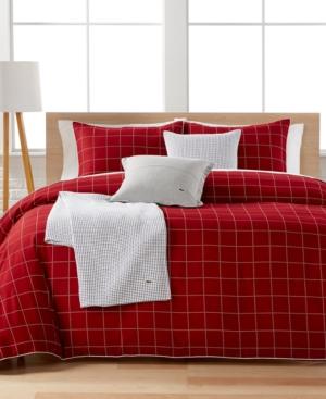 Lacoste Home Leste Red Full/Queen Comforter Set