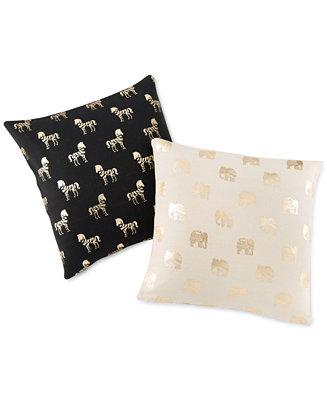 Shiraleah Metallic Animal Pillow Collection Decorative