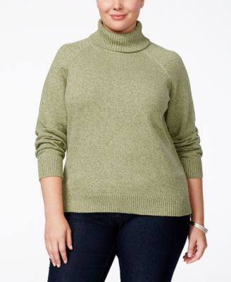 Karen Scott Plus Size Marled Turtleneck Sweater, Only at Macy's
