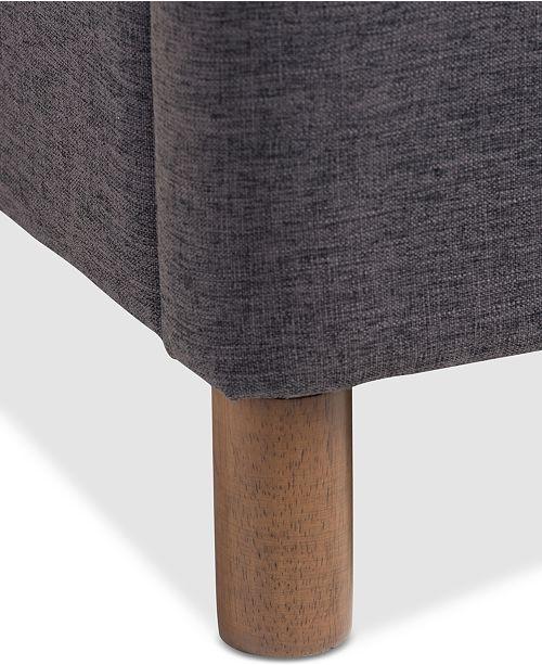 Furniture Hinks Modern King Grid-Tufting Platform Bed