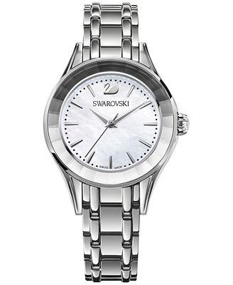 Swarovski Women's Swiss Alegria Stainless Steel Bracelet Watch 33mm 5188848