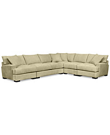 Rhyder 5-Pc. Fabric Sectional with Apartment Sofa - Custom Colors, Created for Macy's