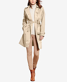 Lauren Ralph Lauren Double-Breasted Trench Coat, Created for Macy's