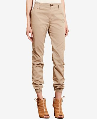 Lauren Ralph Lauren Twill Tapered-Leg Pants