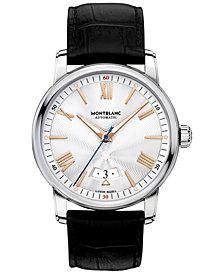 Montblanc Men's Swiss Automatic 4810 Black Alligator Leather Strap Watch 42mm 114841
